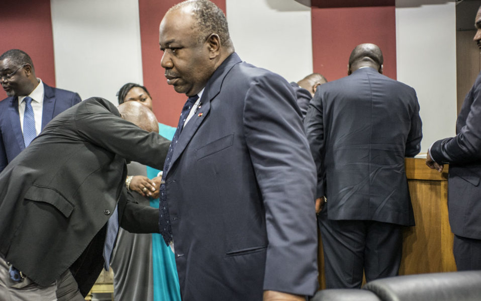 Incumbent  Gabonese President Ali Bongo Ondimba / AFP PHOTO / MARCO LONGARI