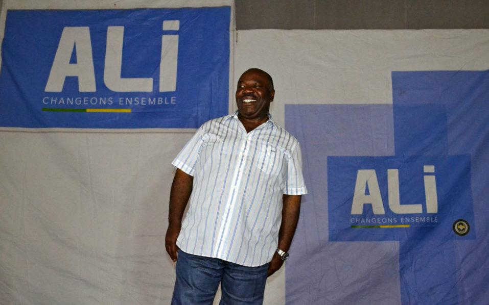 Gabon's incumbent president Ali Bongo Ondimba  / AFP PHOTO / STEVE JORDAN