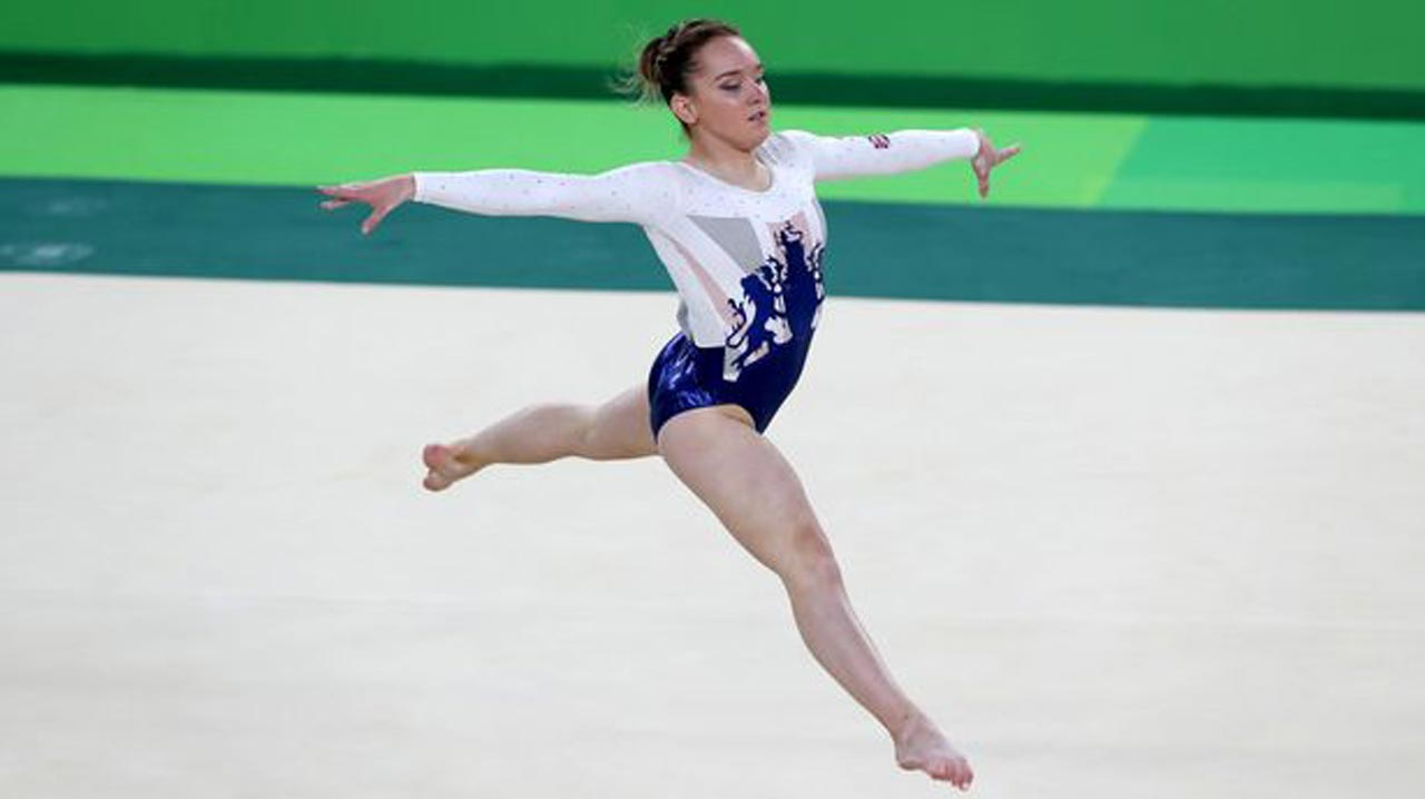 Great Britain's 16-year Amy Tinkler during the women's team gymnastics final in Rio