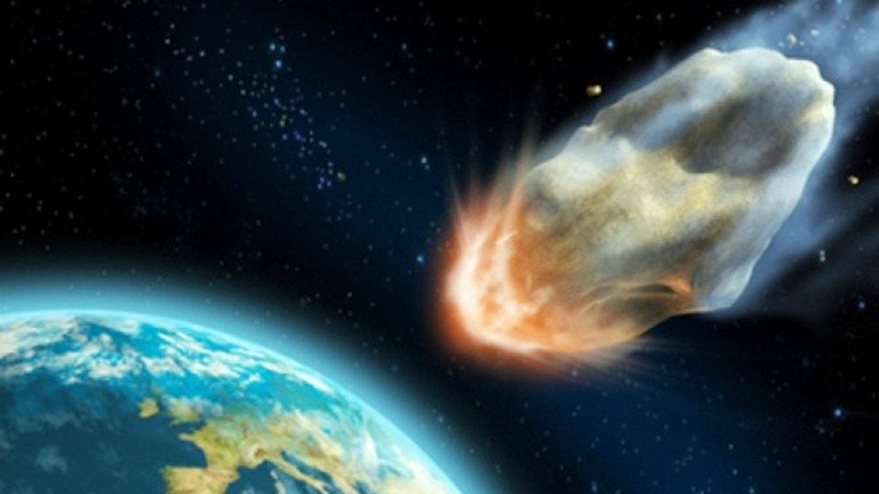Asteroid impact on Earth... Scientists are worried the 500-metre wide asteroid's orbit could be tweaked by Earth's gravity as it passes by, causing it to smash into our planet later in the century. PHOTO CREDIT: google.com/search