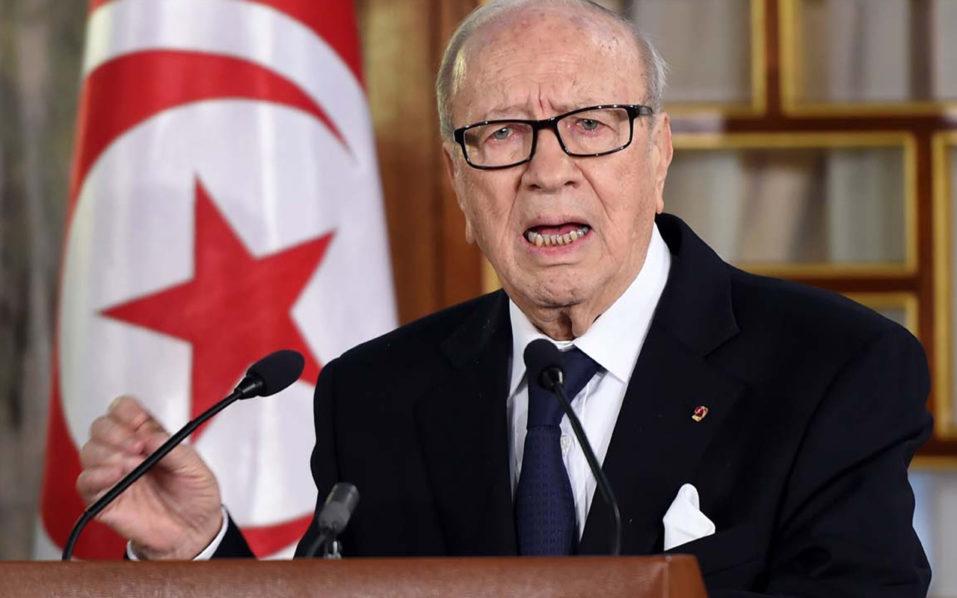 Tunisian President Beji Caid Essebsi. AFP PHOTO / FETHI BELAIDFETHI BELAID/AFP/Getty Images ORG XMIT: