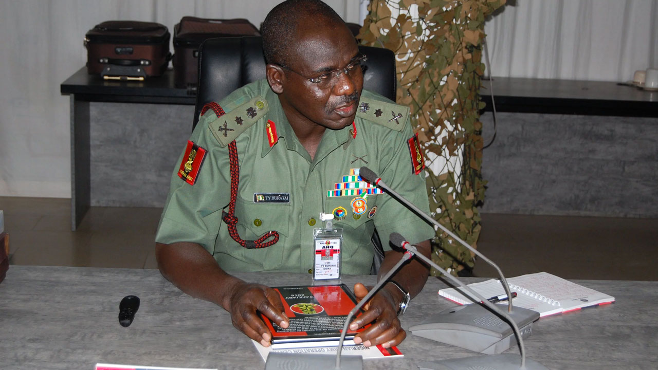 Chief of Army of Staff, Lt.-Gen. Tukur Buratai