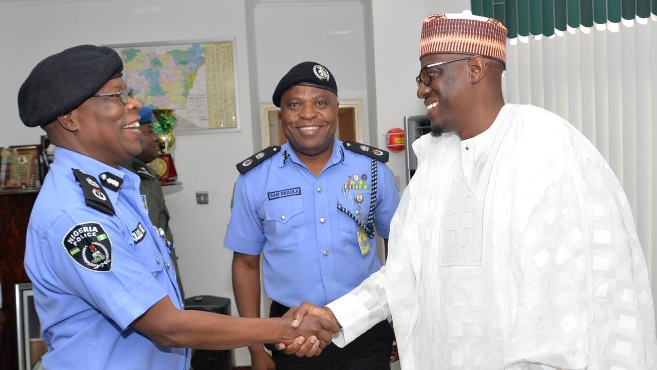 Commissioner of Police, Kwara State Command, Olushola Amore and Kwara state Governor, AbdulFatah Ahmed.