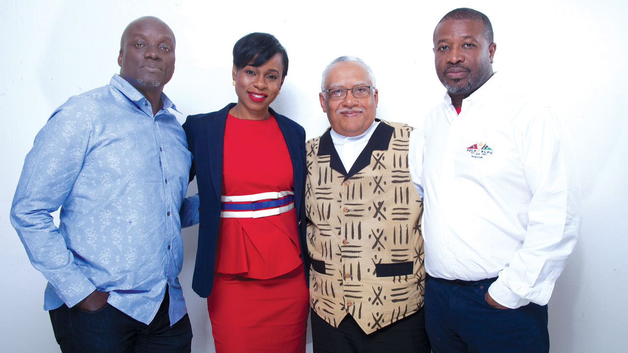 Producers of 93 Days – Mr. Steve Gukas, who also directed (left); Mrs. Bolanle Austen-Peters; Pemon Rami and Dotun Olakunri