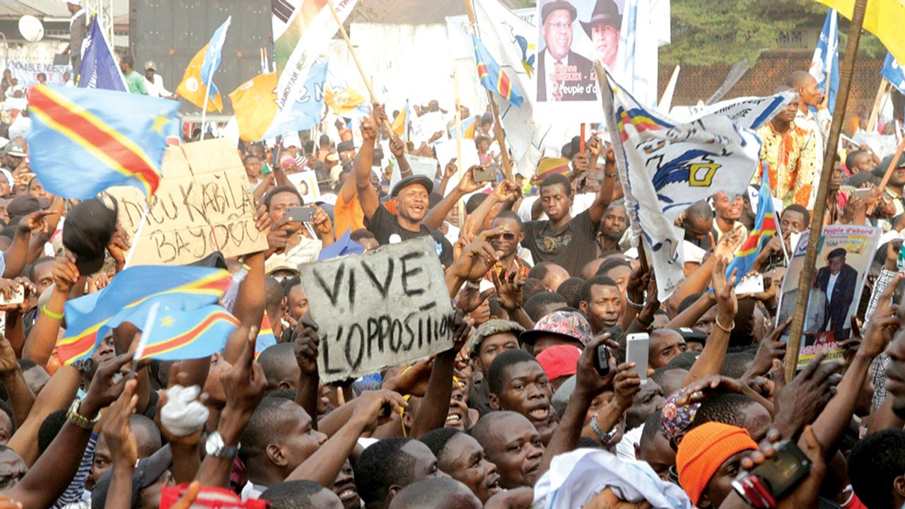 Opposition parties in Democratic Republic of Congo gathered to call a general strike tomorrow to put pressure on Laurent Kabila's government to end its15-year rule…at the weekend PHOTO: Reuters