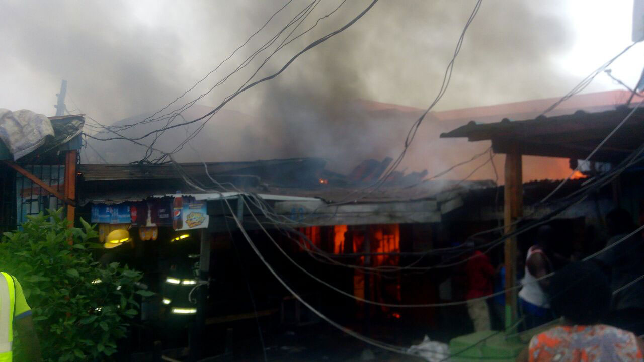 Scene of the fire incident yesterday.