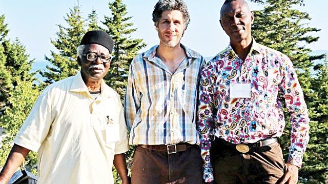 Founder, Harmattan Workshop, Dr. Bruce Onobrakpeya; Director, Haystack Mountain School of Craft, Paul Sacaridiz; and Harmattan Director, Mr. Sam Ovraiti at Haystack Summer 2016 conference