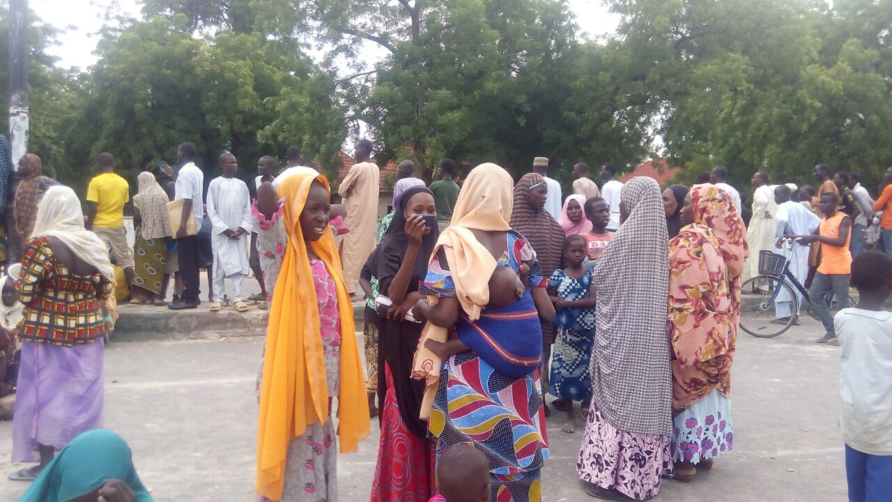 IDPs protesting poor feeding in Borno