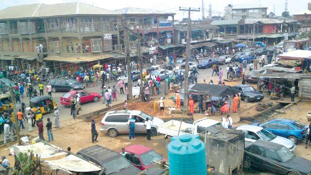 A street in Ikorodu town, Lagos