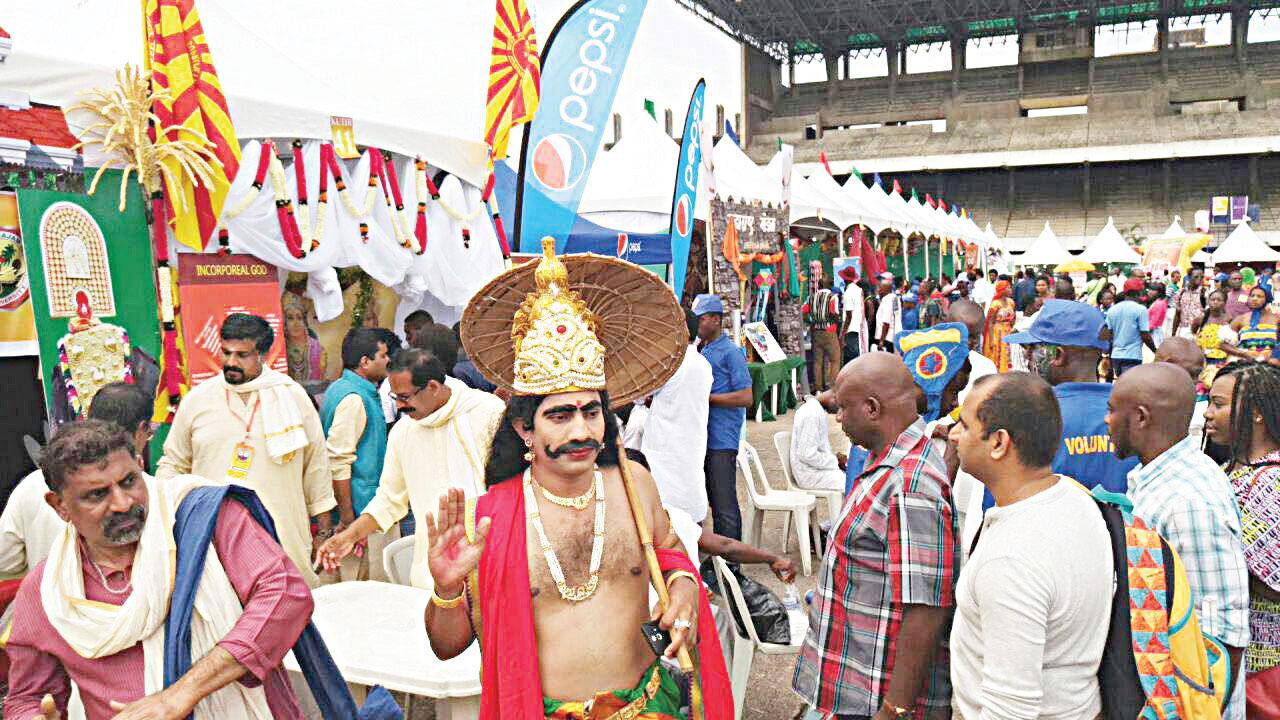 Chariot Carnival procession into Tafawa Balewa Square, venue of the fair and show