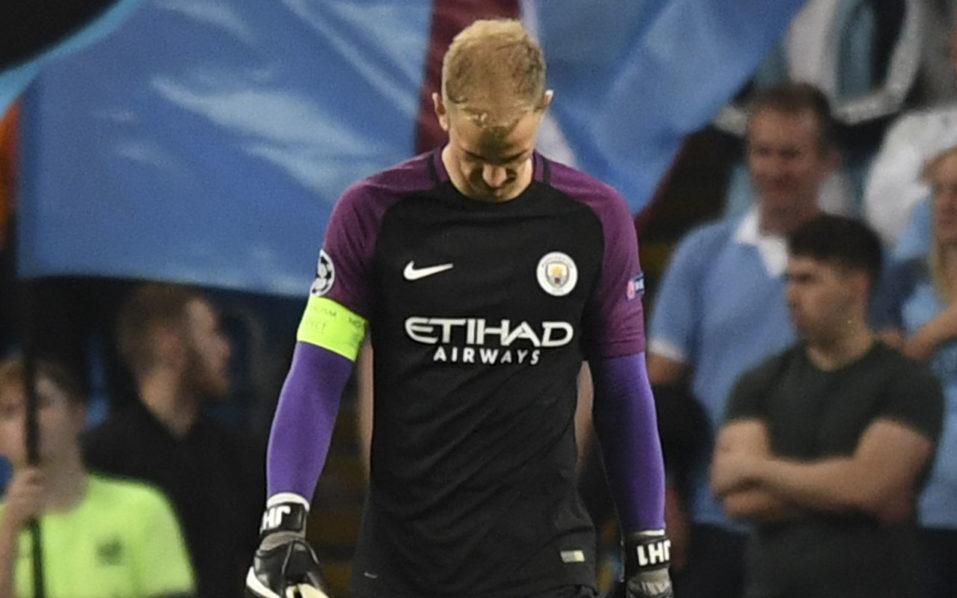 Manchester City's English goalkeeper Joe Hart / AFP PHOTO / Anthony Devlin