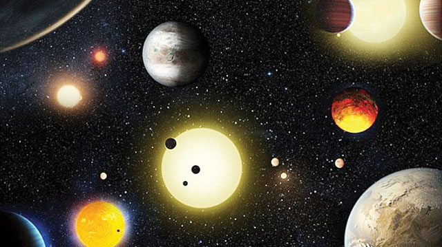 Kepler discovers new planets by measuring the subtle dip in a star's brightness caused by a planet passing in front of its star. Artist's impression pictured PHOTO CREDIT: google.com/search