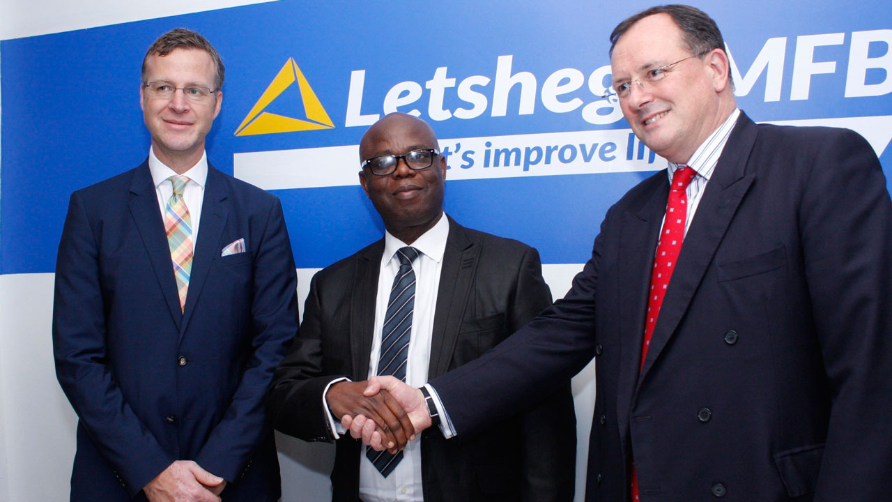 Head, Banking and Microfinance, Letshego Holdings, Tom Kocsis (left); Acting Managing Director, Letshego Micro Finance Bank Nigeria, John Ologe and Group Managing Director, Letshego Holdings, Chris Low at the briefing to announce the re-branding of FBN MFB in Letshego MFB in Lagos at the Weekend                                                                                                                                                              PHOTO: FEMI ADEBESIN-KUTI