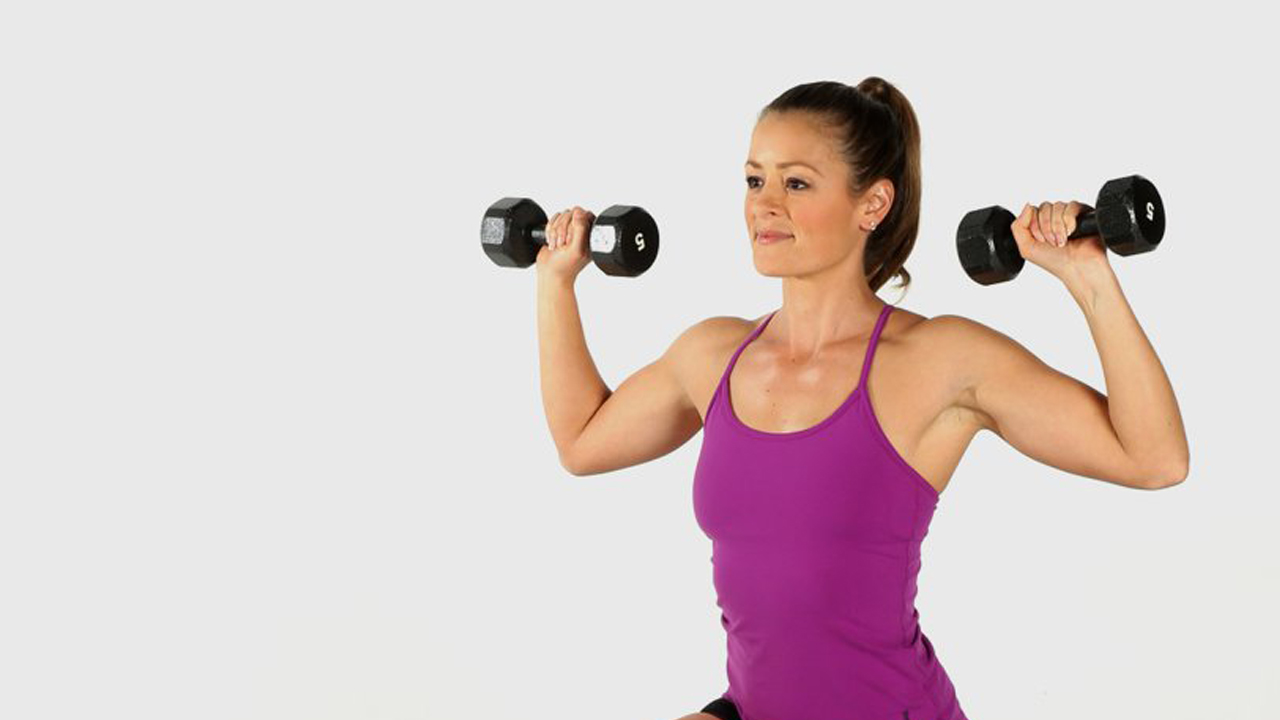 Ladies with dumbbells