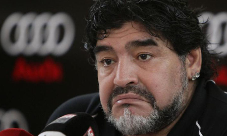 Argentine legend Diego Maradona. KARIM SAHIB/AFP/GETTY IMAGES