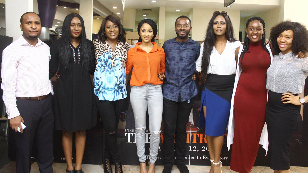 Members of the cast and crew of The Arbitration at the media screening of the movie recently.