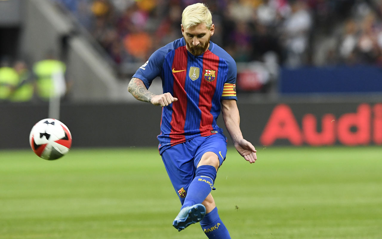 Barcelona's Argentinian forward Lionel Messi, AFP PHOTO / JONATHAN NACKSTRAND