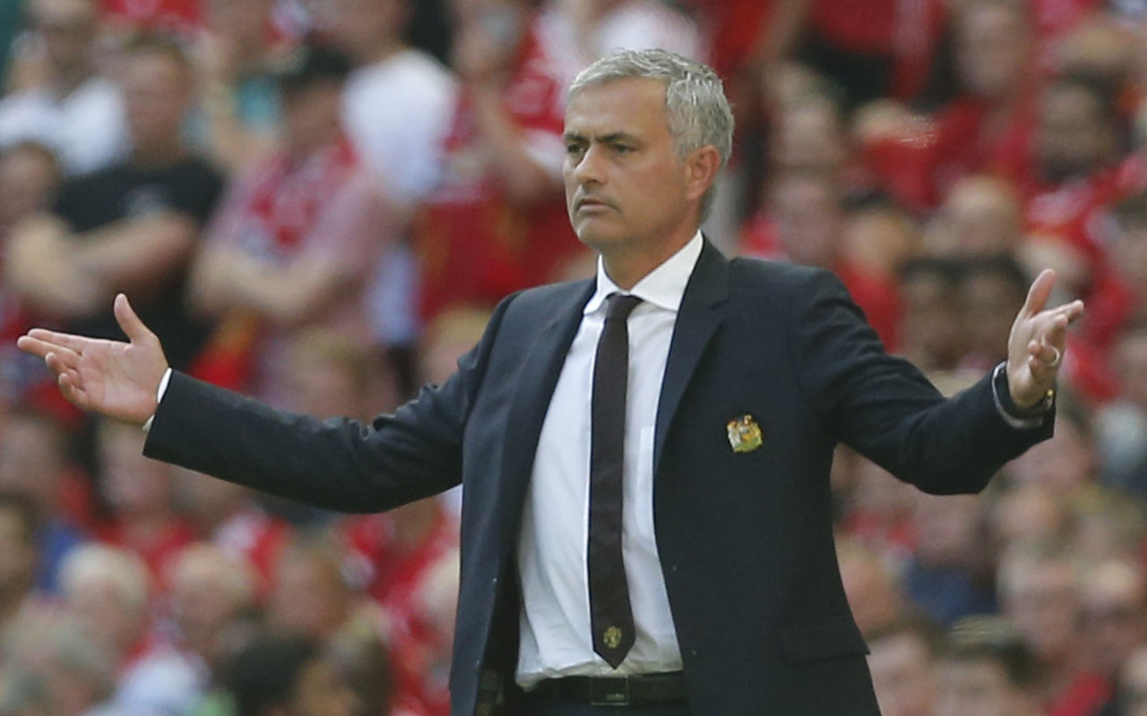 Manchester United's Portuguese manager Jose Mourinho / AFP PHOTO / Ian Kington /