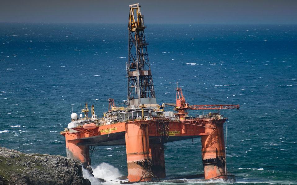 Oil rig / AFP PHOTO / Paul McGinley