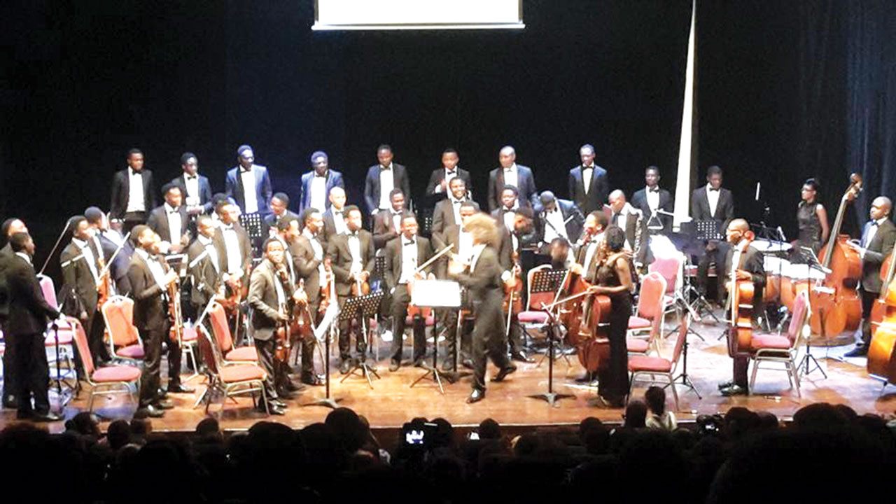 MUSON Symphony Orchestra after a performance