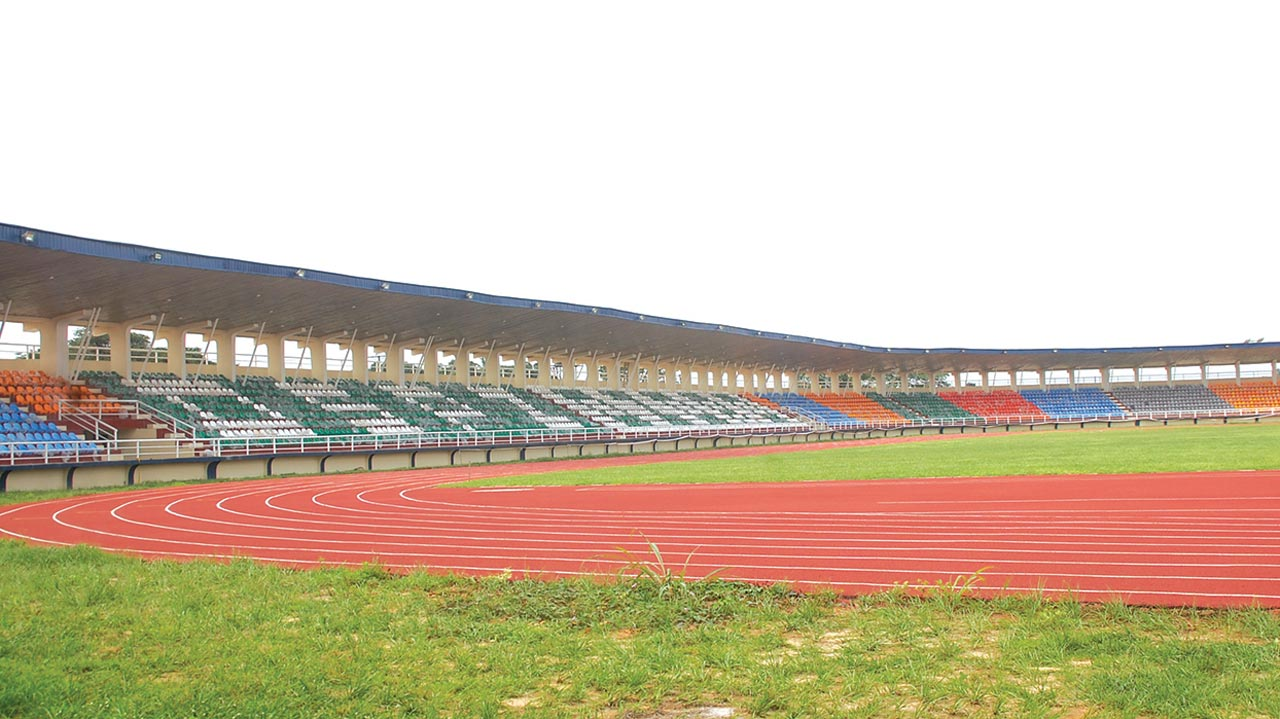 A section of the Delta State Polytechnic Ozoro stadium in Isoko North local government area constructed by the state government and internally generated revenue of the institution.