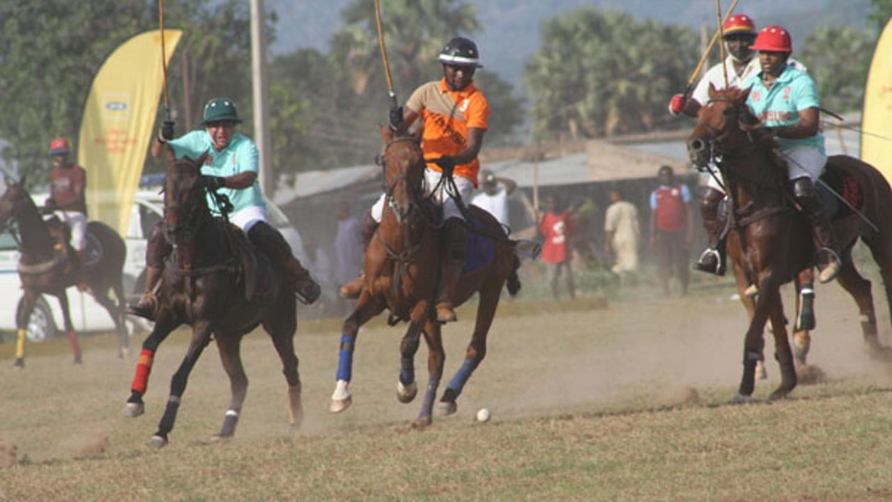 Participants featuring in the on-going MTN International Polo tournament in Katsina.