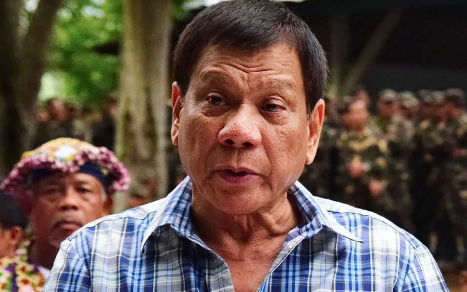 Rodrigo Duterte PHOTO:AFP