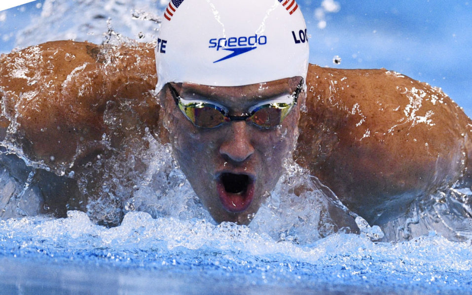 "(FILES) This file photo taken on August 10, 2016 shows USA's Ryan Lochte as he competes in a Men's 200m Individual Medley heat during the swimming event at the Rio 2016 Olympic Games at the Olympic Aquatics Stadium in Rio de Janeiro.   Speedo USA announced August 22, 2016 it has ended its sponsorship of star Olympic swimmer Ryan Lochte following his false claim that he had been robbed at gunpoint in Rio, a story he later admitted was ""overexaggerated."" ""While we have enjoyed a winning relationship with Ryan for over a decade and he has been an important member of the Speedo team, we cannot condone behavior that is counter to the values this brand has long stood for,"" the company said in a statement.  / AFP PHOTO / Martin BUREAU"
