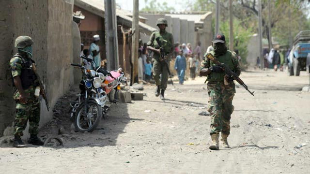 Soldiers-patrol-on-a-street-