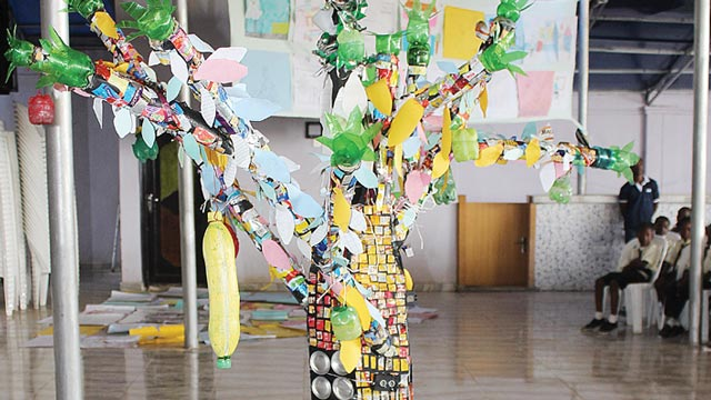 The Wishing Tree made with recycled materials