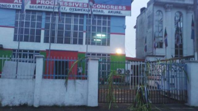 Fetish objects at APC secretariat in Ondo State.
