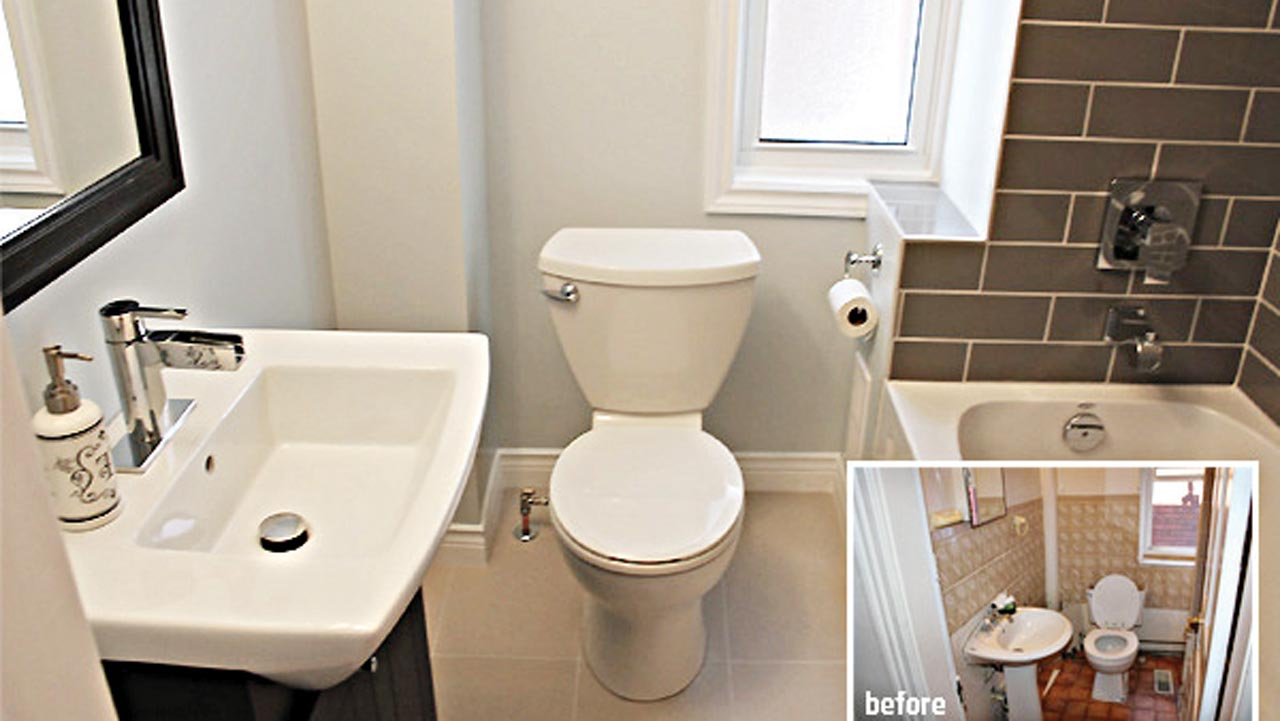 Remodeling On A Dime Bathroom Edition Saturday Magazine The - Cheap diy bathroom remodel ideas