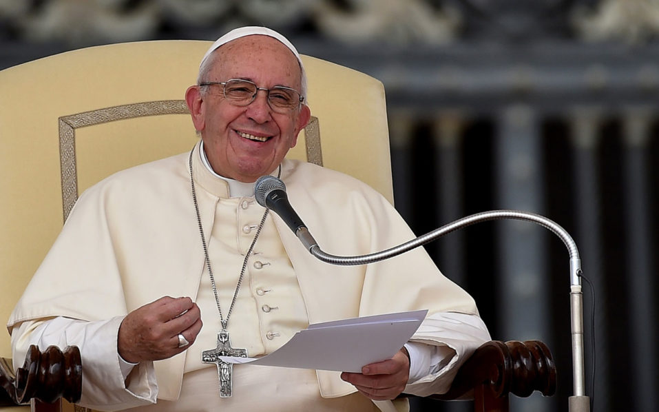 Pope Francis / AFP PHOTO / ALBERTO PIZZOLI