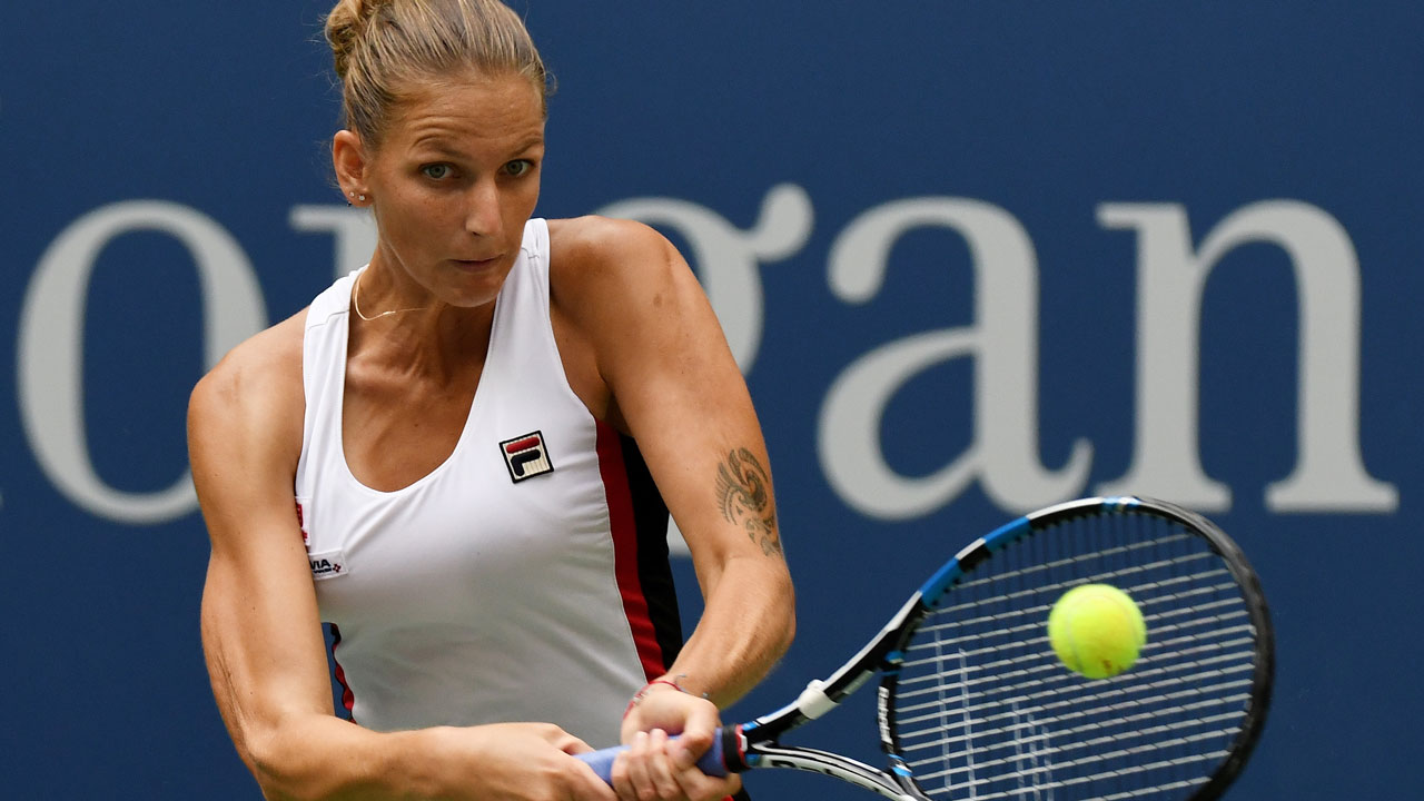 Karolina Pliskova of the Czech Republic. Mike Hewitt/Getty Images/AFP Mike Hewitt / GETTY IMAGES NORTH AMERICA / AFP