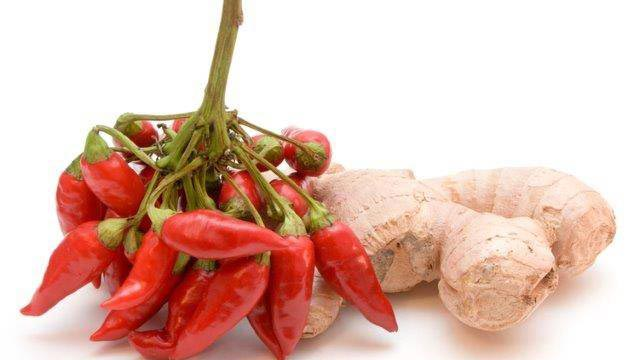 Chili peppers and ginger