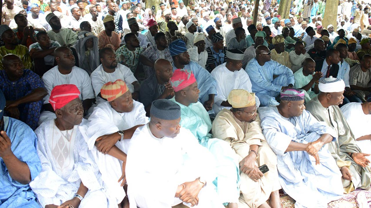 Muslims during 2015 Ileya Festival.