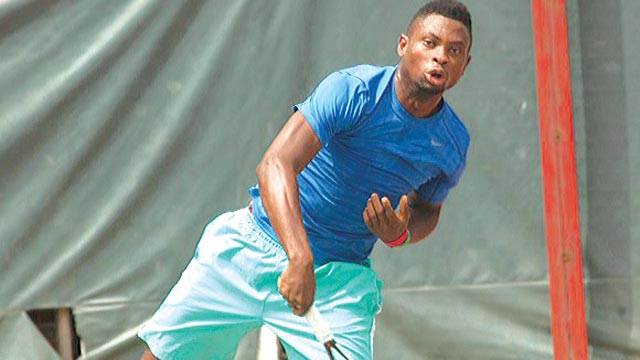 Christian Paul is one of the players in the on-going NCC Tennis League.