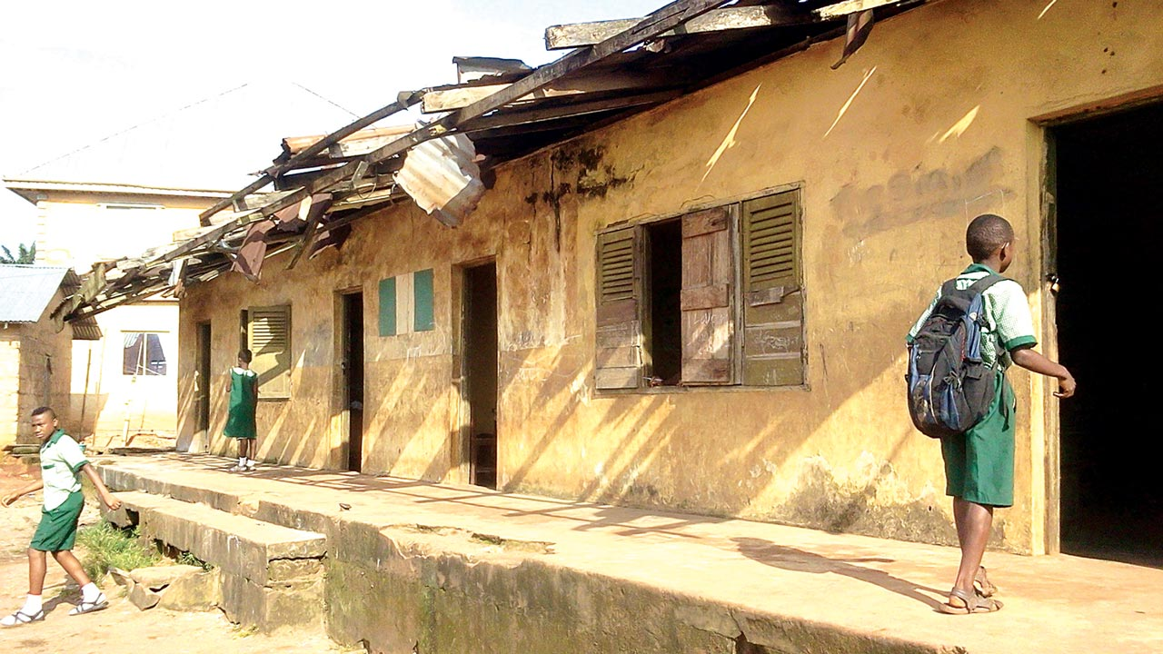 A classroom block at Adolor Primary School, Benin City, Edo State