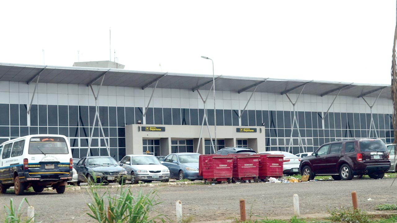 Front view of the remodelled domestic wing of Akanu-Ibiam International Airport Enugu PHOTO: LAWRENCE NJOKU