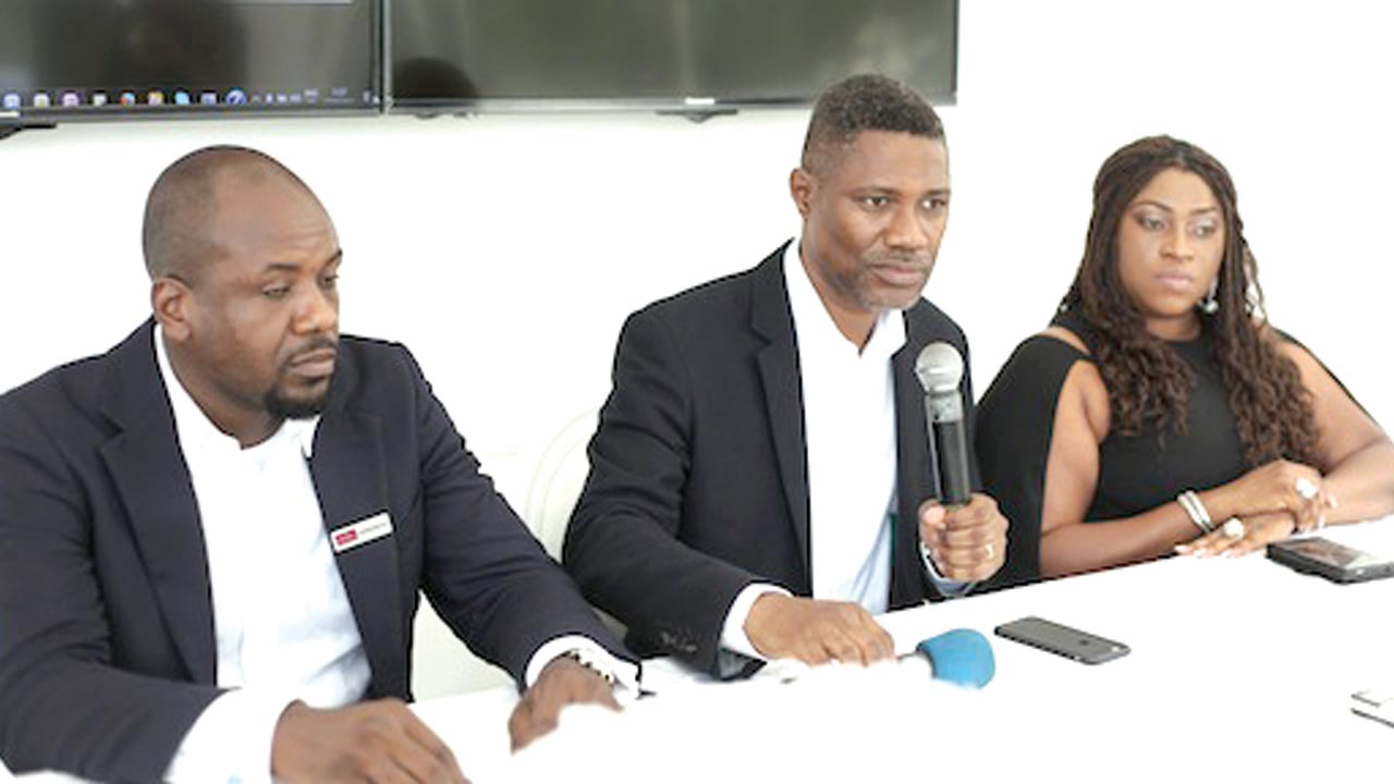 Cadwell's Project Lead, Damola Kupoluyi (left); Director, Muyiwa Owoturo and Head of Concepts and Marketing, Nekpen Emokpae during during a press conference and exclusive launch of Cuddle development in Ikoyi, Lagos