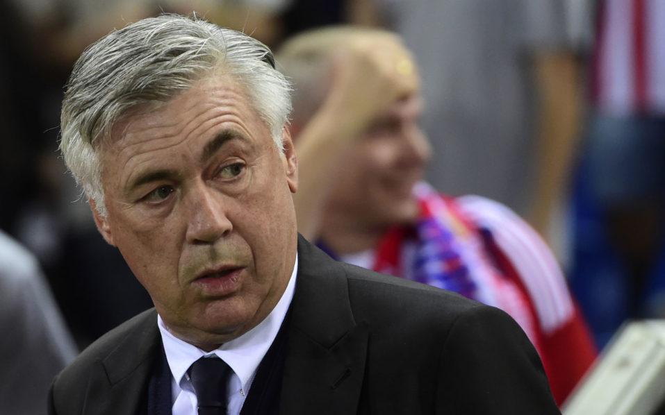 Bayern Munich's Italian coach Carlo Ancelotti / AFP PHOTO / PIERRE-PHILIPPE MARCOU