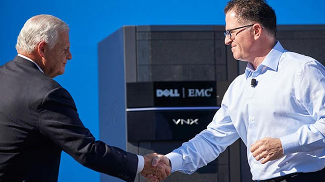 Michael Dell and EMC Chief Executive Officer, Joe Tucci discuss the Dell-EMC merger, to be known as Dell Technologies.