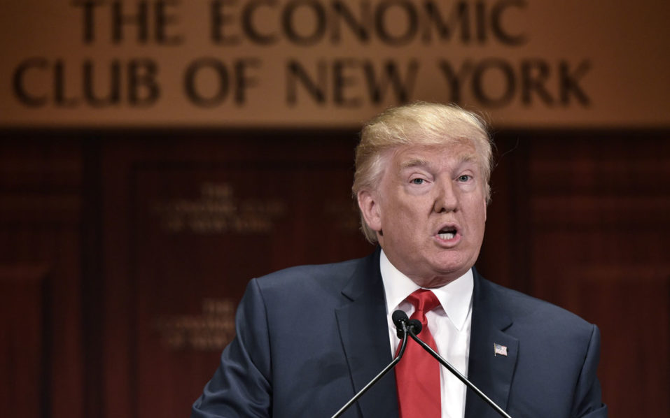 Republican presidential nominee Donald Trump/ AFP PHOTO / MANDEL NGAN