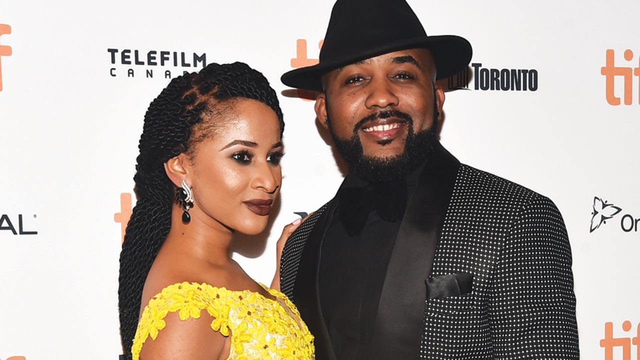 "Actress Adesua Etomi and Nigerian singer Banky Wellington (R) attend ""The Wedding Party"" premiere during the 2016 Toronto International Film Festival at The Elgin on September 8, 2016 in Toronto, Canada. Alberto E. Rodriguez/Getty Images/AFP"
