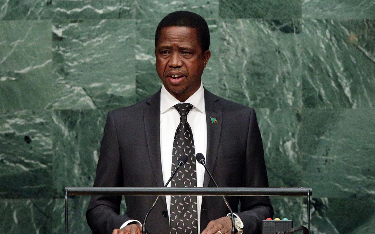 Zambian President Edgar Chagwa Lungu/  EPA/JASON SZENES