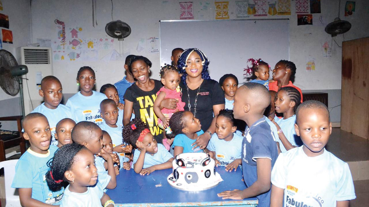 A cross section of children at Moments With Sandra Fan Club mentorship session, recently