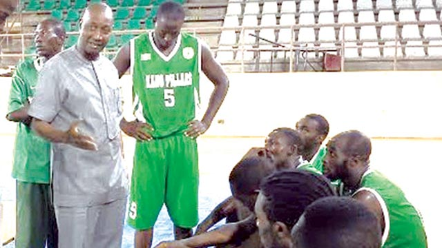 Players and officials of Kano Pillars Basketball Club listening to a state government official, Mohammed Garba (left) during the just concluded DSTV Basketball League. Pillars will represent Nigeria at the FIBA Africa Zone Three Championship in Togo…next month.