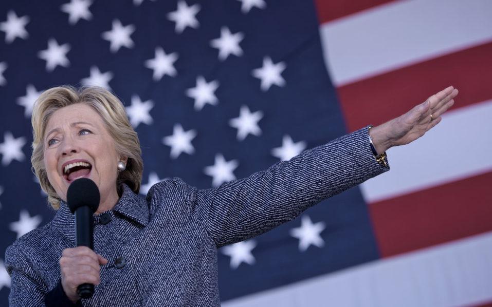 Democratic presidential nominee Hillary Clinton / AFP PHOTO / Brendan Smialowski