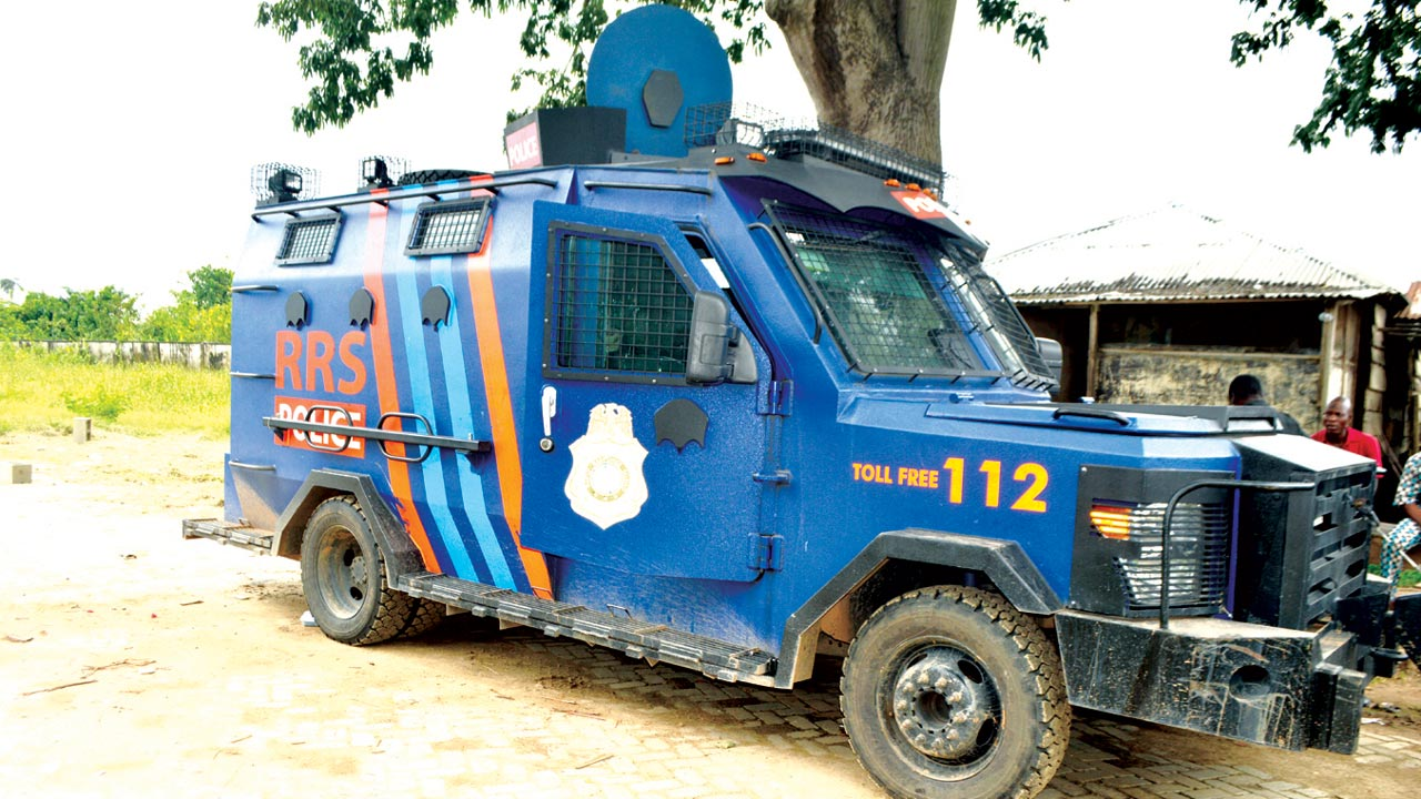 RSS vehicle stationed in the area