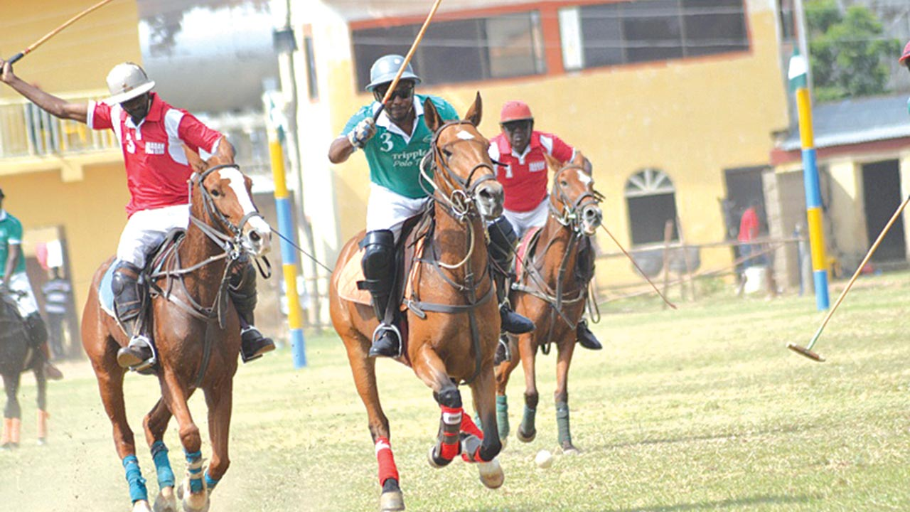 It's my ball….Players in action at the on-going Kano Polo tournament.